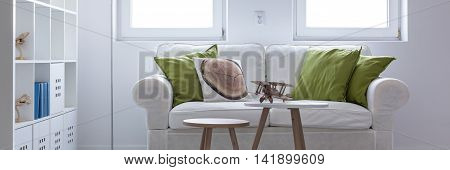 White Softness Of A Comfortable Lounge