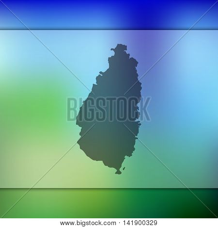 Saint Lucia map on blurred background. Blurred background with silhouette of Saint Lucia. Saint Lucia. Saint Lucia vector map. Saint Lucia flag.