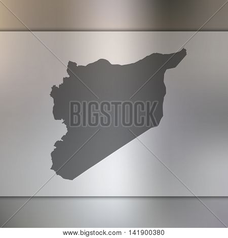 Syria map on blurred background. Blurred background with silhouette of Syria. Syria. Syria silhouette. Syria vector map. Syria flag.