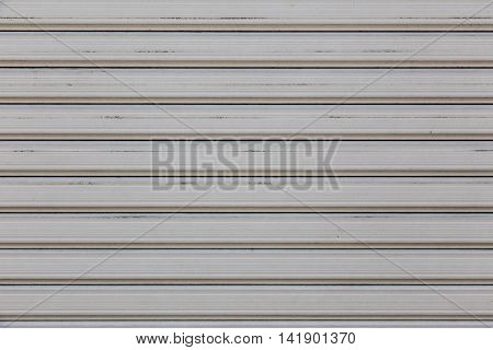 Roll metal shutter gate in gray color