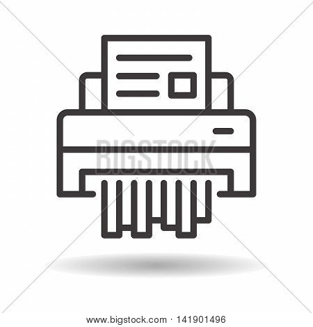 shredder paper flat icon on a white background