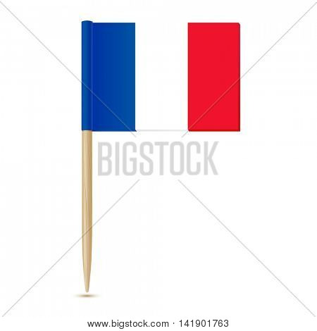 Flag of France toothpick 10eps