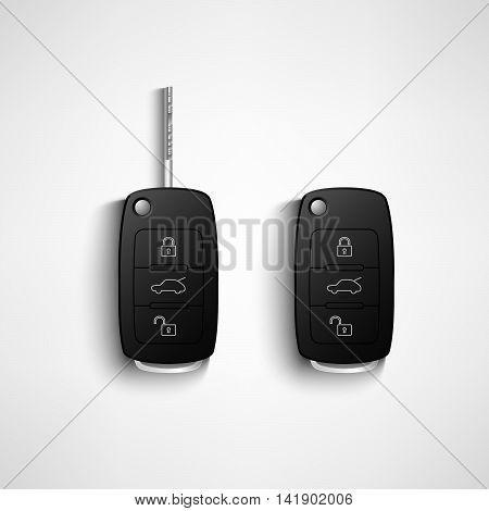 Black car remote key vector eps 10