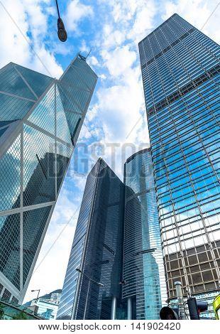 modern skyscrapers of hong kong,china.