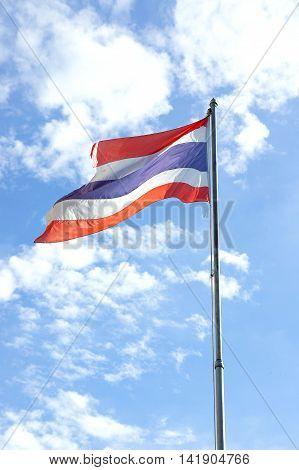 Thailand National Flag or tricolor flag. As a symbol of Thailand.