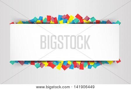Colorful celebration background. celebration bubble in colorful confetti. Vector Illustration.