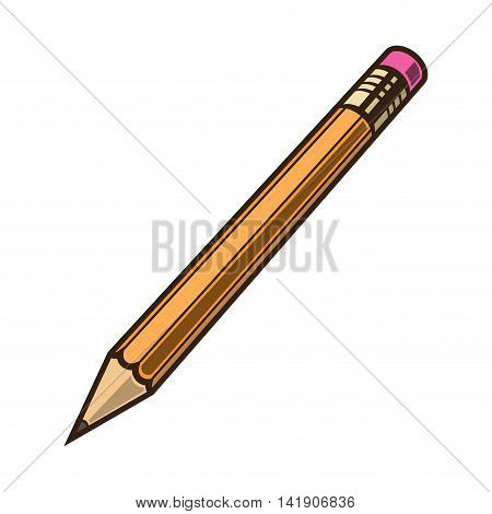 Pensil colored on white background vector illustration