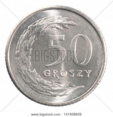 Fifty Polish Groszy Coin