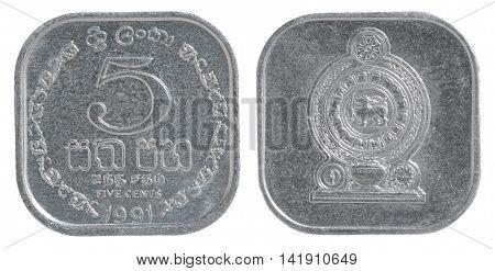 Sri Lanka Cent Coin