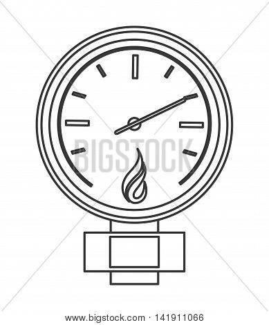 flat design manometer or pressure gauge icon vector illustration
