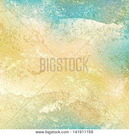 Old vintage background with grunge texture cracks, remnants of the paint layer and noise effect. Blank abstract backdrop with space for text. This vector illustration clip-art design element 10 eps.