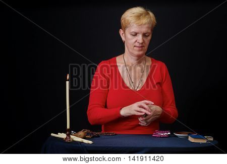 Portrait of mature Caucasian woman - soothsayer