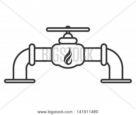 flat design natural gas pipeline icon vector illustration