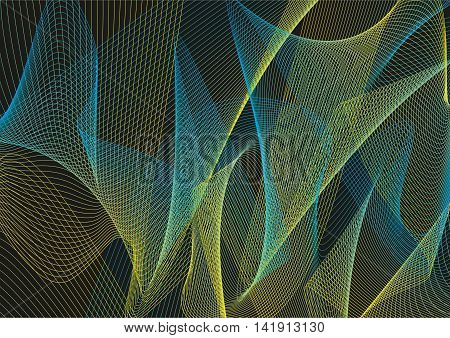Abstract vector background. Patterns on a black background. Vector illustration.