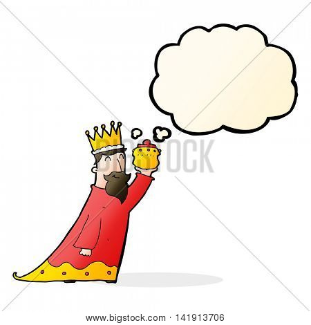one of the three wise men with thought bubble