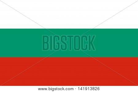 Flag of bulgaria. Flag of bulgaria vector. Flag of bulgaria isolated.illustration