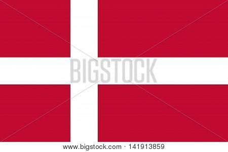 Flag of denmark. Flag of denmark vector. Flag of denmark isolated. illustration