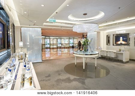 HONG KONG - CIRCA JANUARY, 2016: interior of a store at Elements shopping mall. Elements is a large shopping mall, located directly above the Kowloon MTR station