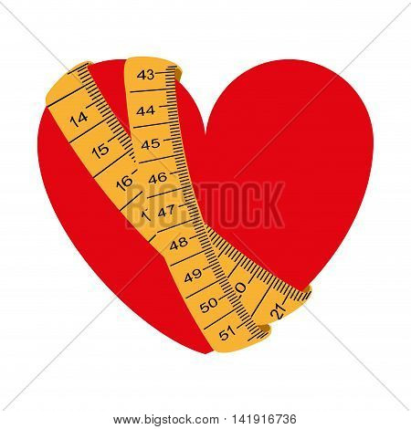 tape measure healthy lifestyle icon vector illustration graphic