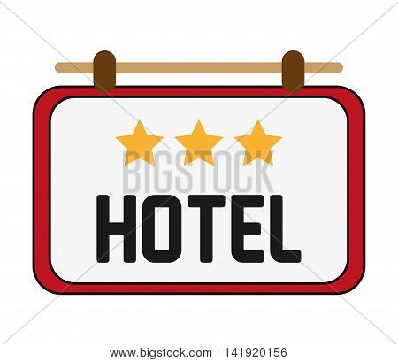 flat design hotel sign icon vector illustration