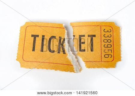 Torn Retro Ticket