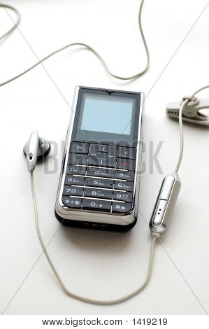 Mobile Phone And The Headphone