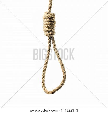 isolated image hanging rope with Lynch's loop