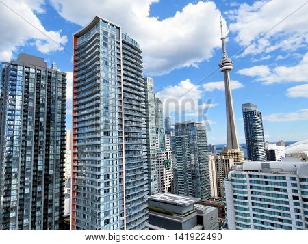 Toronto Canada - August 6 2016: The modern buildings.