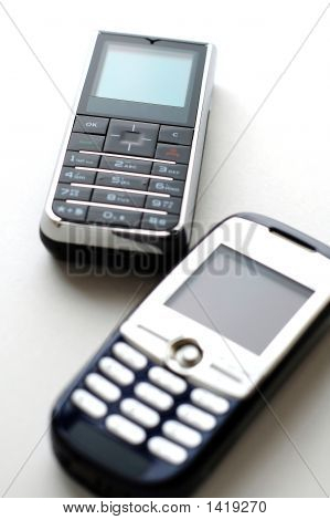 Two Modern Mobile Phones
