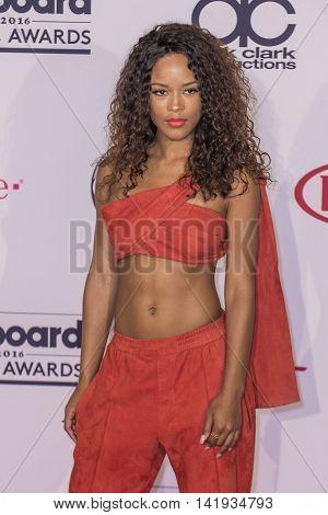 LAS VEGAS - MAY 22 : Actress/singer Serayah poses in the press room at the 2016 Billboard Music Awards at T-Mobile Arena on May 22 2016 in Las Vegas Nevada.