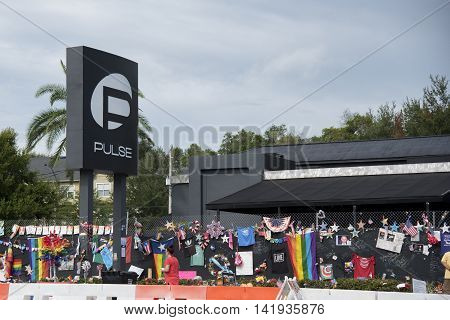 Orlando Florida - August 9th 2016 Pulse Nightclub Memorial: Orlando Florida Pulse nightclub massacre memorial planned