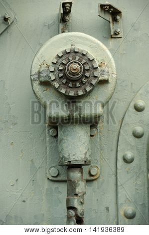 Detail Of Old Military Machine