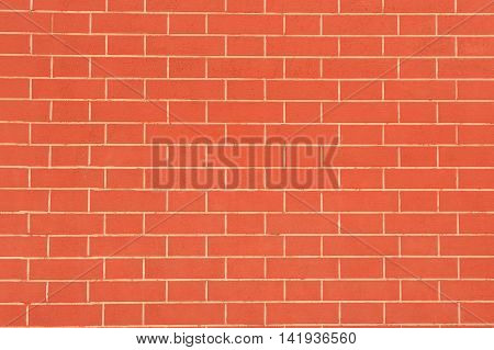 A perfect red brick wall as a background