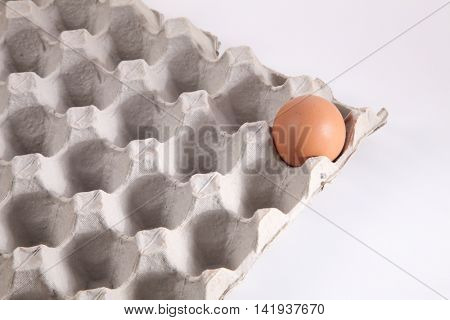 last piece of egg in a egg tray