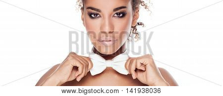Beauty Portrait Of Elegant African American Woman.
