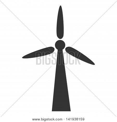 wind turbine eolic energy , isolated flat icon design