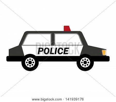 police car patrol icon vector illustration design