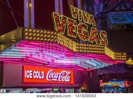LAS VEGAS - JULY 04 : Casino sign at the Fremont Street Experience on July 04 2016 in Las Vegas Nevada. The Fremont Street Experience is a pedestrian mall and attraction in downtown Las Vegas