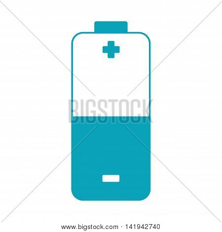 Eletric battery energy, isolated flat icon design
