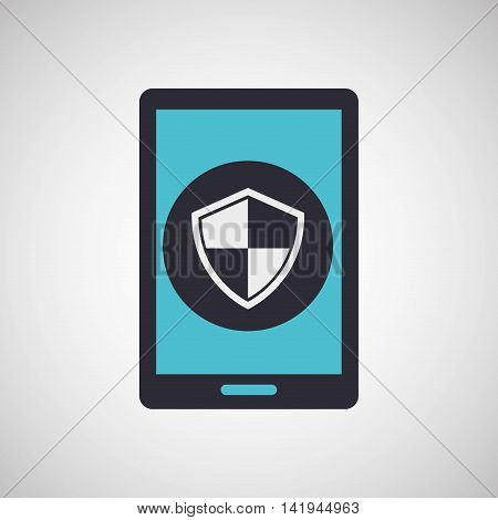 smarphone device with tech icon, vector illustration