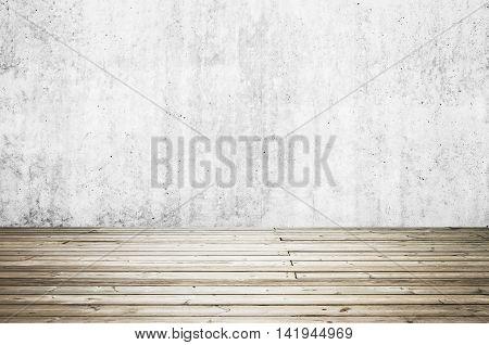 Uncolored Old Dark Gray Wooden Floor. Background