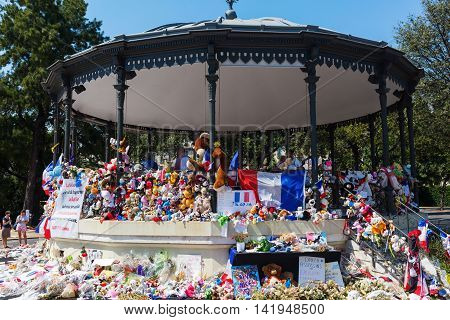 Tributes In Nizza, France, For Victims Of Terror Attac