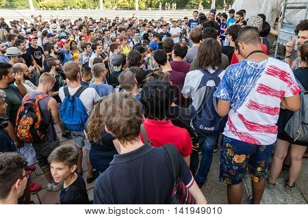 People Take Part In The Pokemon Go Tour In Milan, Italy