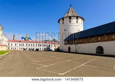 Kazan, Russia - June 11, 2016: the Kazan Kremlin in the June 11, 2016, Kazan, Tatarstan, Russia.