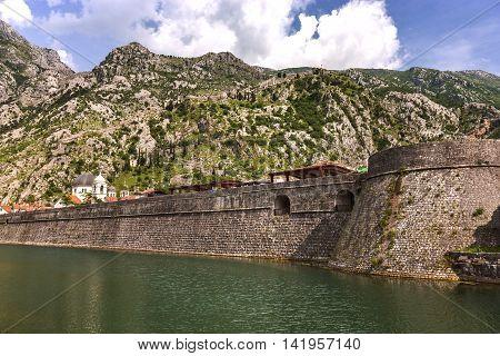 A City In The Coast Of Adriatic, Montenegro, Balkans