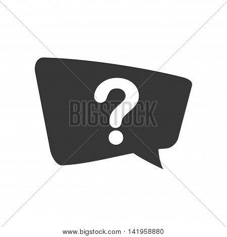 question mark bubble ask why icon. Isolated and flat illustration. Vector graphic