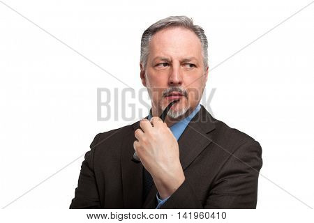 Portrait of a pensive businessman