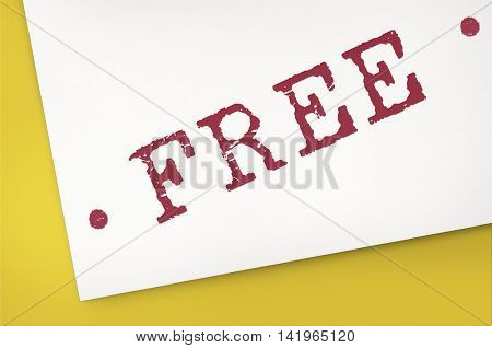 Free Bonus Gift Offer Sample Trial Graphic Concept