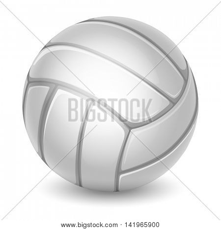 Volleyball Ball. Sports equipment. Realistic Vector Illustration. Isolated on White Background.