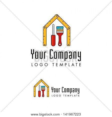 janitors and facility management company logo template